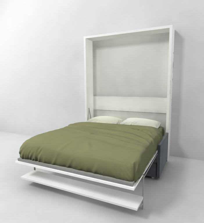 Italian murphy bed over sofa with floating shelf expand furniture folding tables smarter Murphy bed over couch