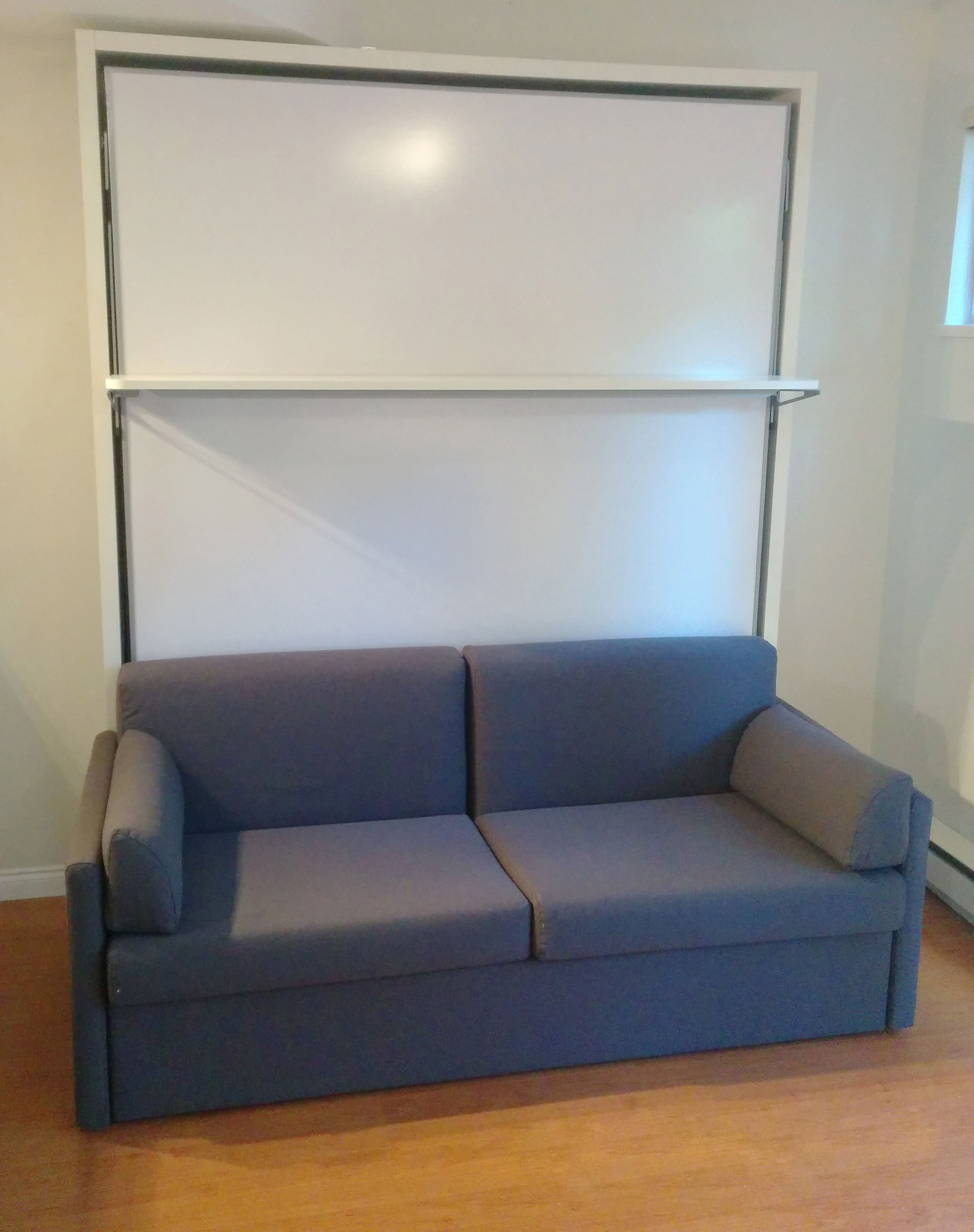 Compatto Murphy Bed Over Sofa With Floating Shelf Expand Furniture