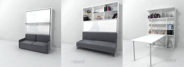 Italian Murphy Beds available at Expand Furniture