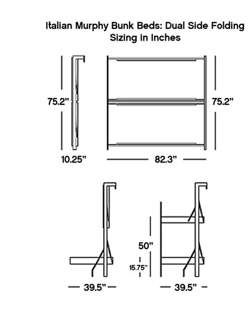Double-side-folding-hidden-bunk-dimensions