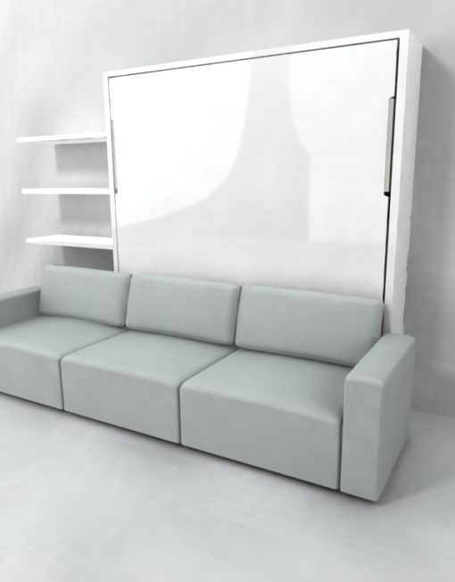 Murphysofa king size wall bed over sectional sofa