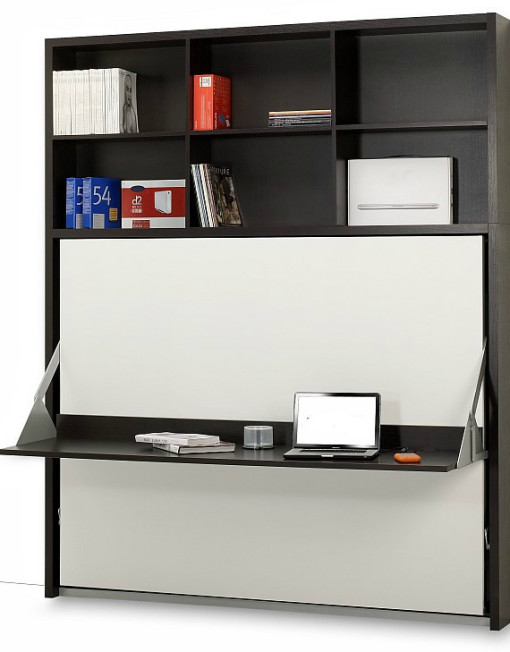 Horizontal Italian Wall Bed Desk Expand Furniture