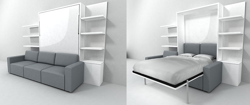 Calgary Space Saving Furniture Expand Furniture - Murphy bed couch ideas space savers
