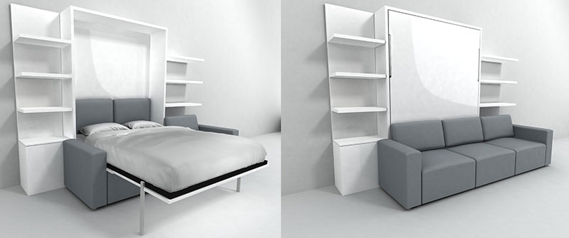 Nyc wall bed sofa expand furniture folding tables smarter wall beds space savers - Expand furniture ...