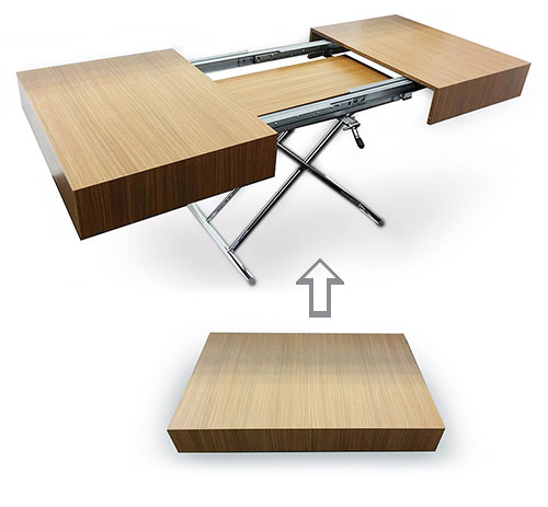 Expanding Dining Table For Tiny Living in NYC