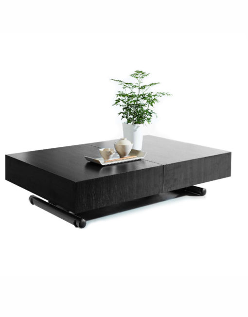 Black Wood Box Coffee To Dining Table Space Saving Furniture
