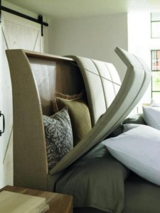 Headboard Storage Idea For Small Space Living