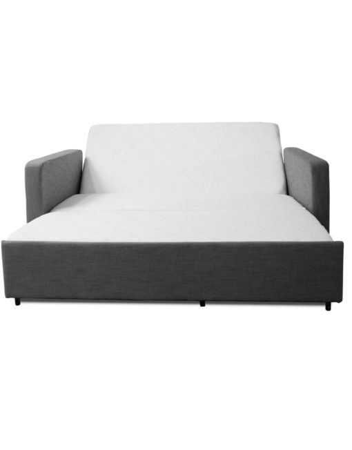 Grey-Harmony-sofa-bed-with-adjustable-back-rest-and-memory-foam-mattress-open