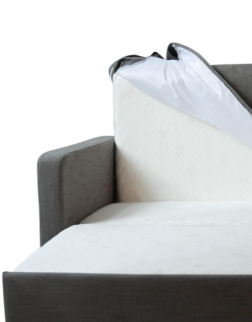 Harmony-Sofa-bed-with-grey-protective-covers-and-easy-transition-to-sofa-or-bed-form