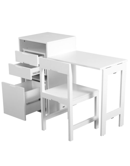 Ludovico-micro-office-open-with-hidden-chair-and-table-in-office-cabinet-White-matte