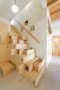Hidden space saving stairs