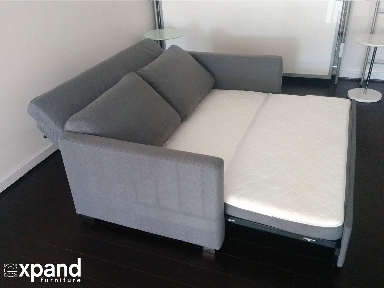 Renoir queen size memory foam sofa bed expand for Memory foam futon sofa bed