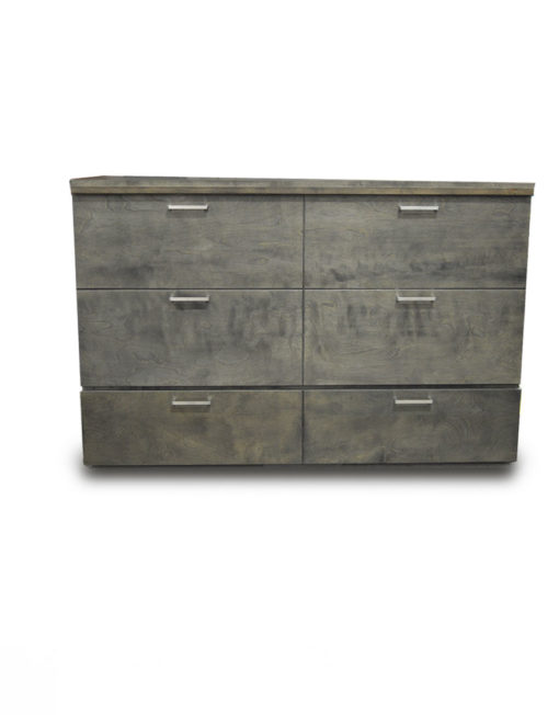 Denva Cabinet-bed-in-grey-with-extra-handles-hidden-bed