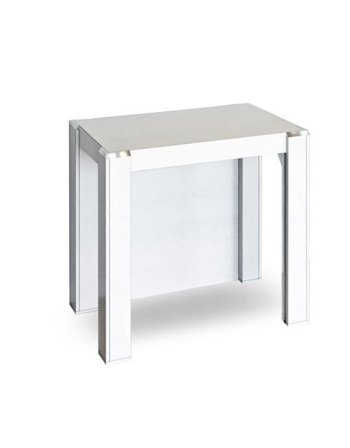 Expanda-console-in-white-wood-finish-extending-table