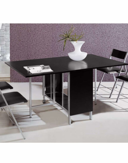 Trojan-table-and-chairs-in-black-wood-combination