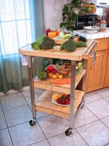 serenity folding kitchen island