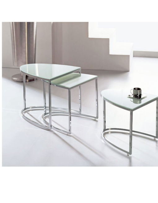 bow-nesting-glass-side-tables-in-white-and-chrome