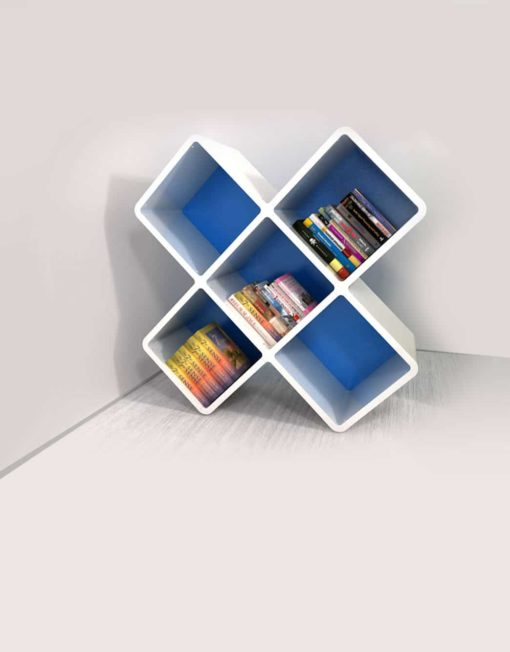 210-3x3cb-X-shaped-bookshelf-unique-storage-in-white-and-blue