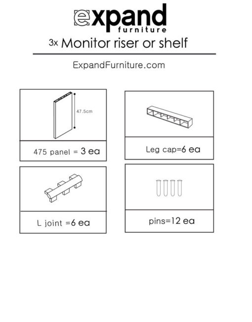 3-Monitor-riser-or-simple-shelf-parts
