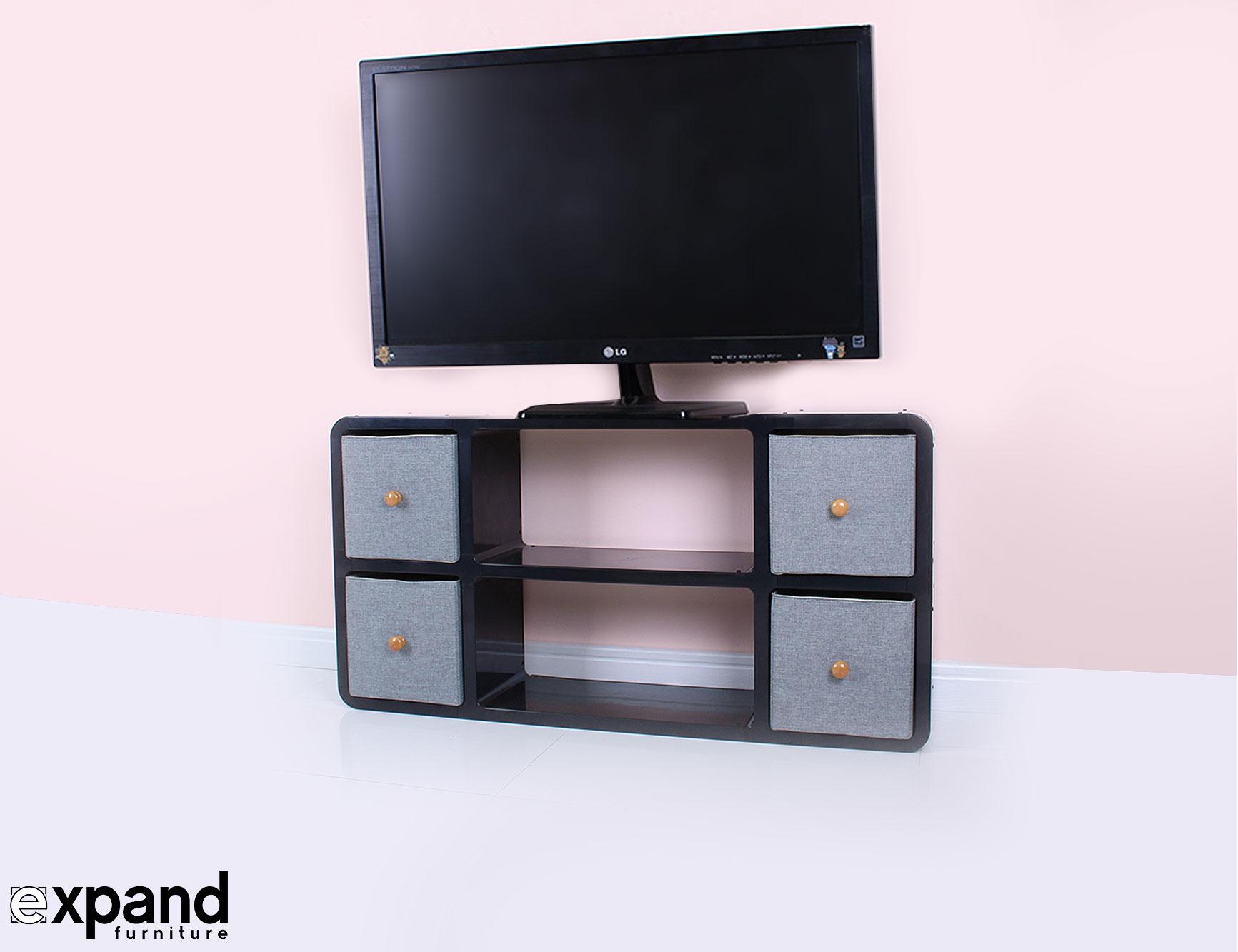 Slim Modern TV Stand Expand Furniture
