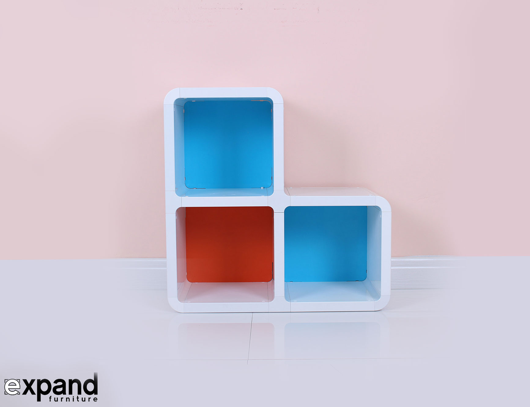 Bunk Beds With Desks : Corner Step bookshelf with 3 cubes and colors for a unique home from www.tehroony.com size 1733 x 1333 jpeg 74kB