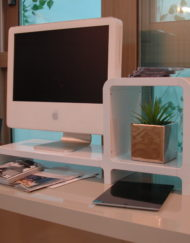 monitor stand and cubby