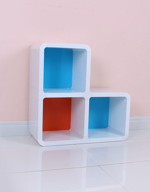 Interesting-small-corner-bookcase-with-colors