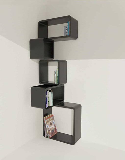 Modular-Corner-Cube-Wall-Shelf-M-in-Black