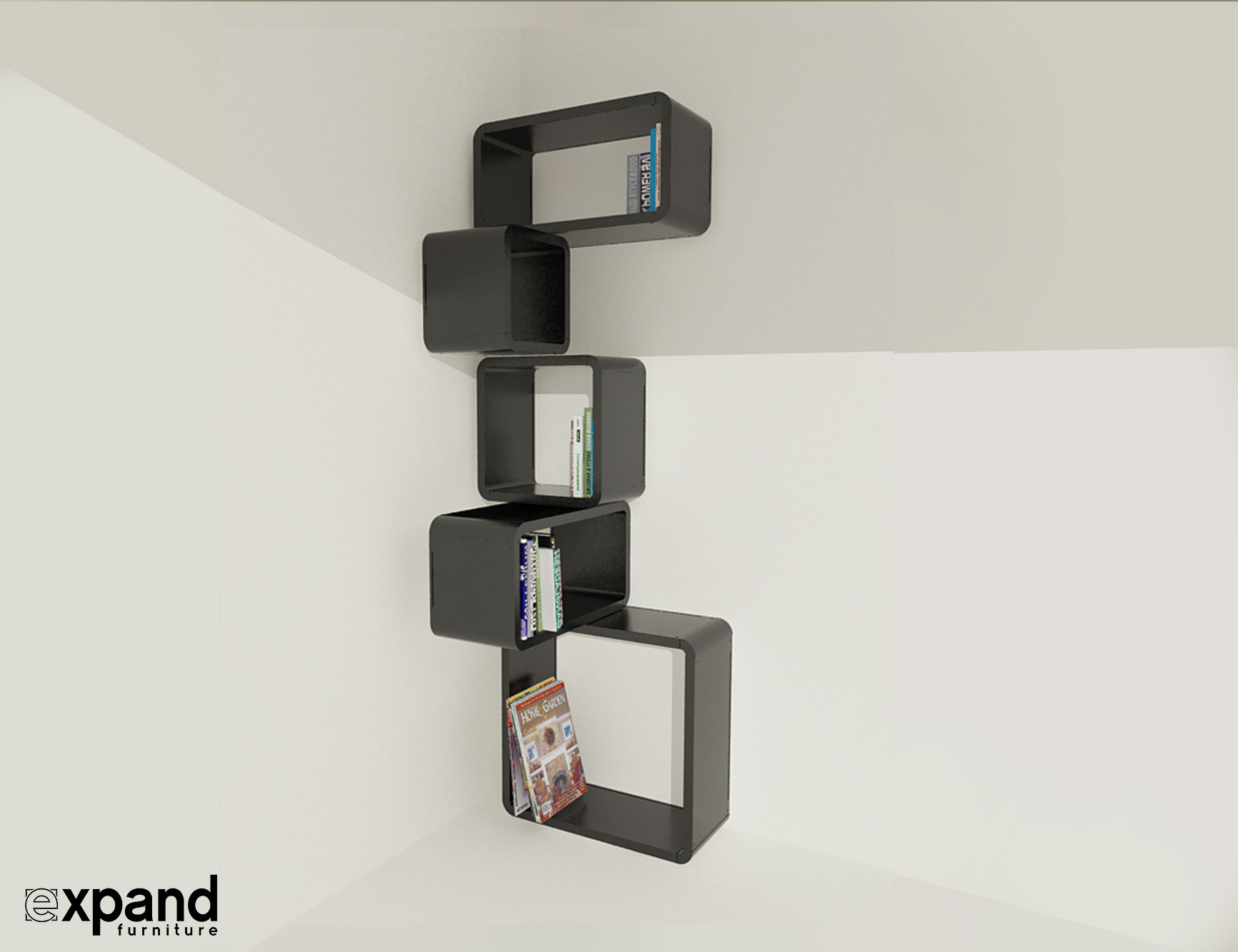 Modular Corner Cube Shelf M Expand Furniture
