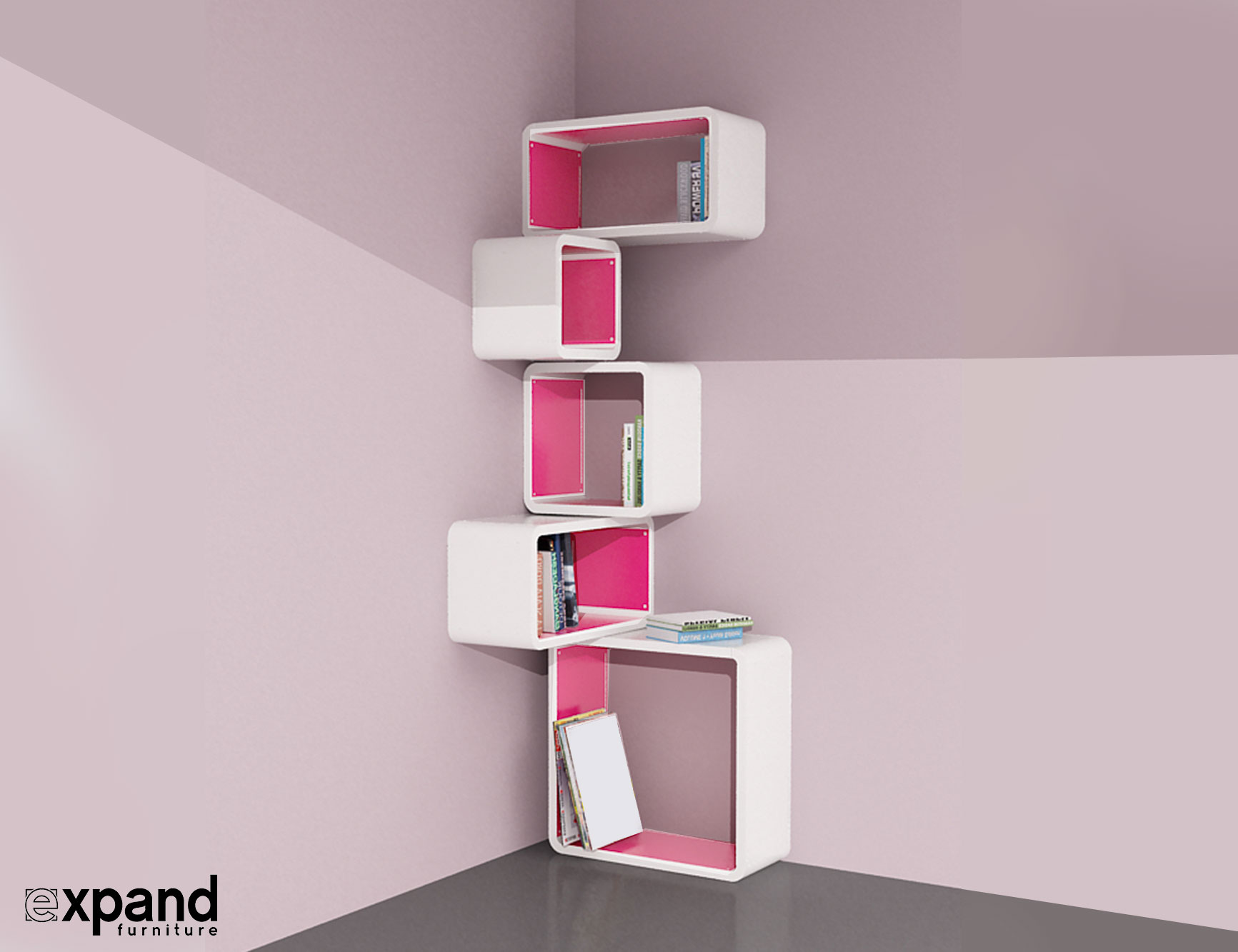 Modular Corner Cube Shelf - M