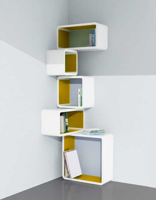 Modular-Corner-Cube-Wall-Shelf-M-in-white-and-orange