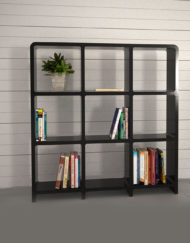 Modular-Storage-L3030-3x3-black-bookcase-storage