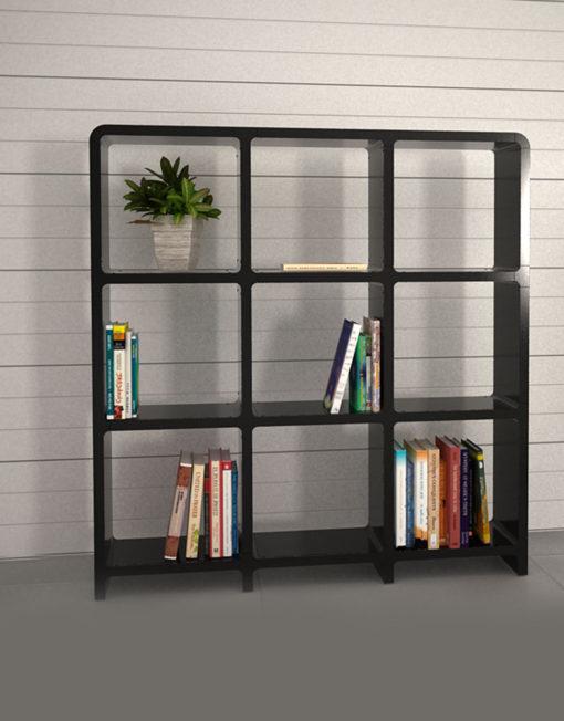 Modular-Storage-L3030-3x3-black-bookcase-storage