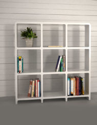 Modular-Storage-L3030-3x3-white-bookcase-storage