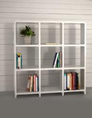 Modular-Storage-L3030-3x3-white-bookcase-storage