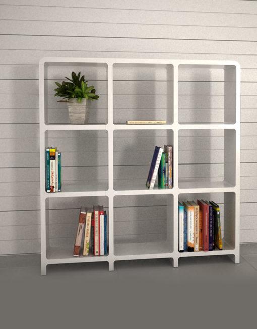 Captivating Modular Storage L3030 3x3 White Bookcase Storage