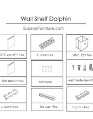 Modular-Wall-Shelf-in-Dolphin-shape-parts