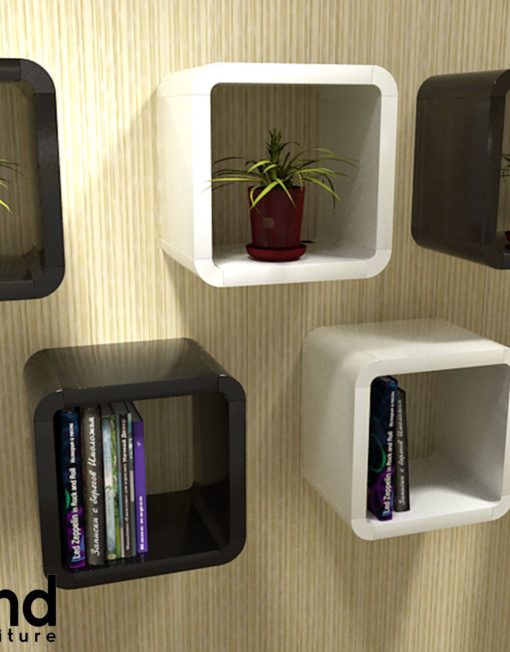 2121 2 Unique Cube Wall Shelves