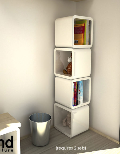 2121x2 unique cube wall shelves expand furniture - Storage solutions small spaces property ...