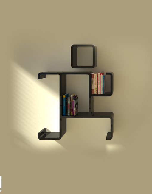modular wall shelf run black - Decorative Shelf