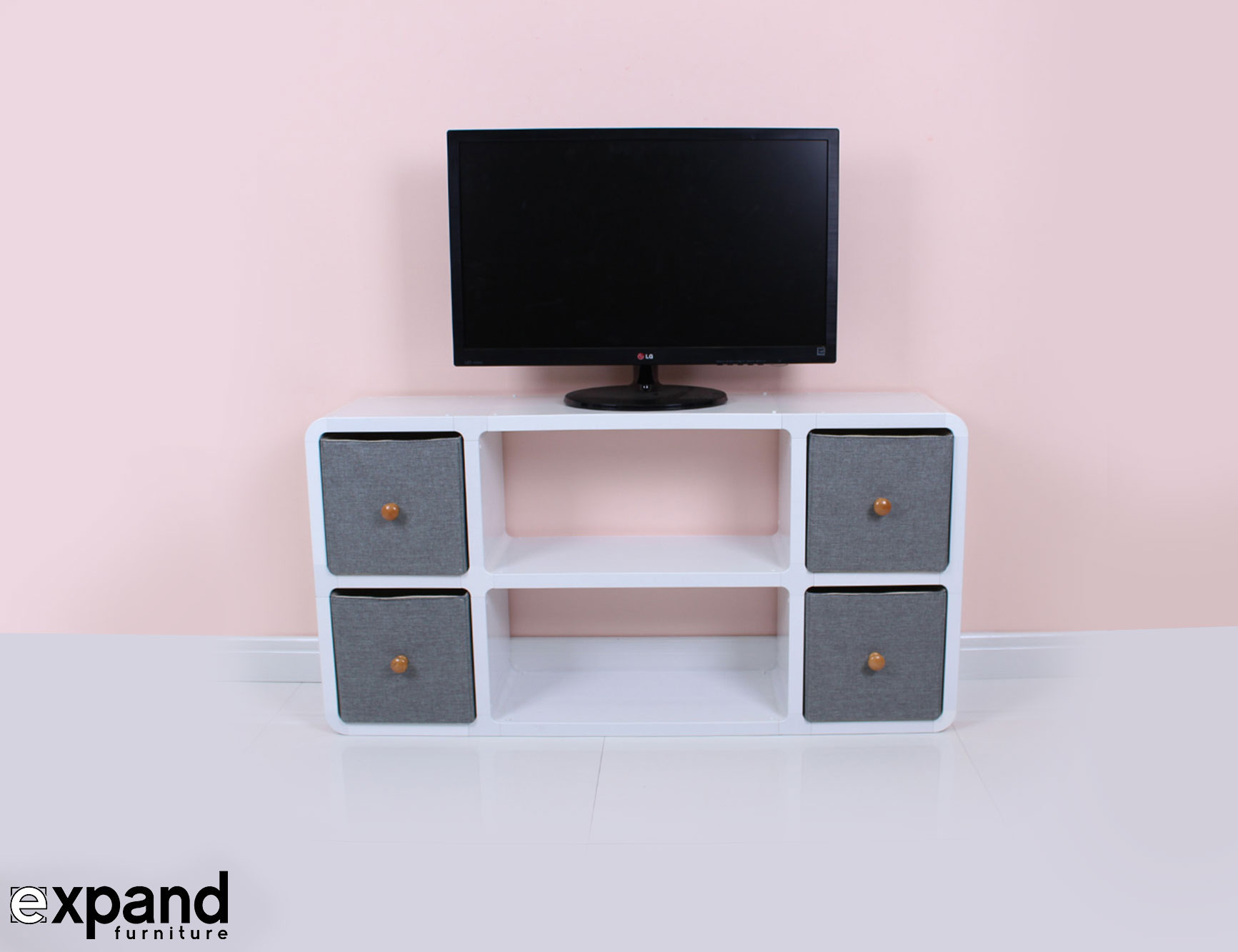 Slim Modern TV Stand Expand Furniture