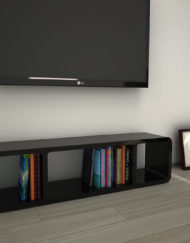 StorageTM3 1 Black Slim Tv Stand For Small