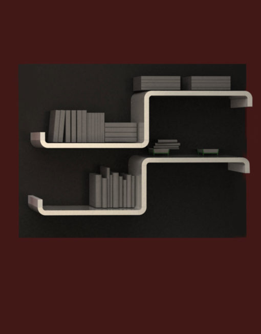 Vertical shelving ax2 in white