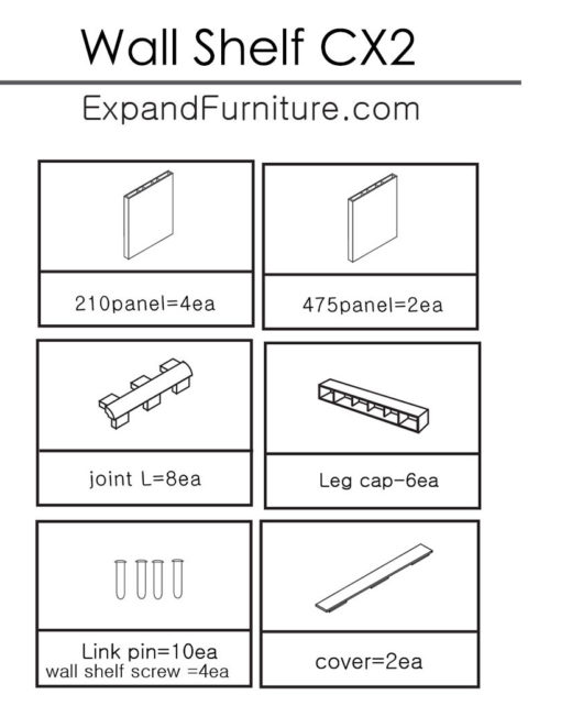 Wall-Shelf-CX2-parts