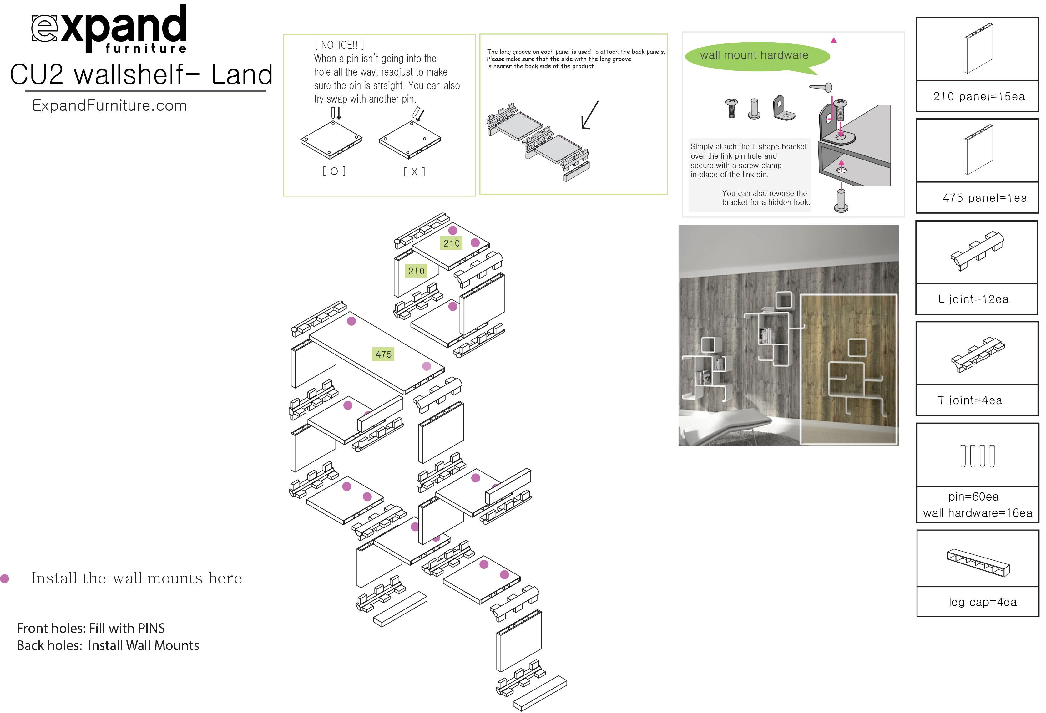 Landing hero modular wall shelf expand furniture prev ccuart Images