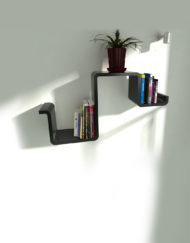 Wall-Shelf-N-in-black