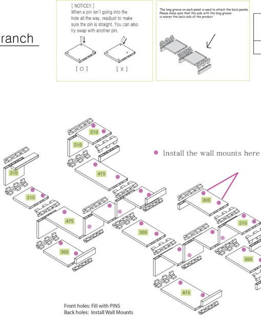 Wall-shelving-Branch-design