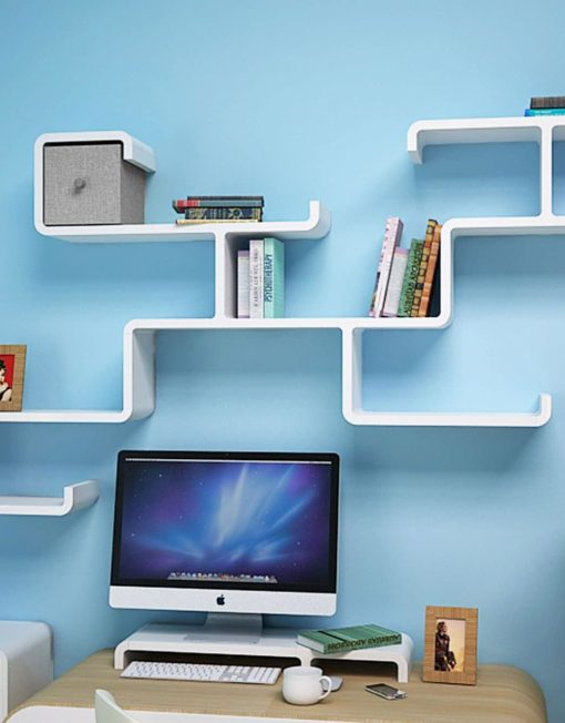Wall-shelving-Branch-in-white-above-computer