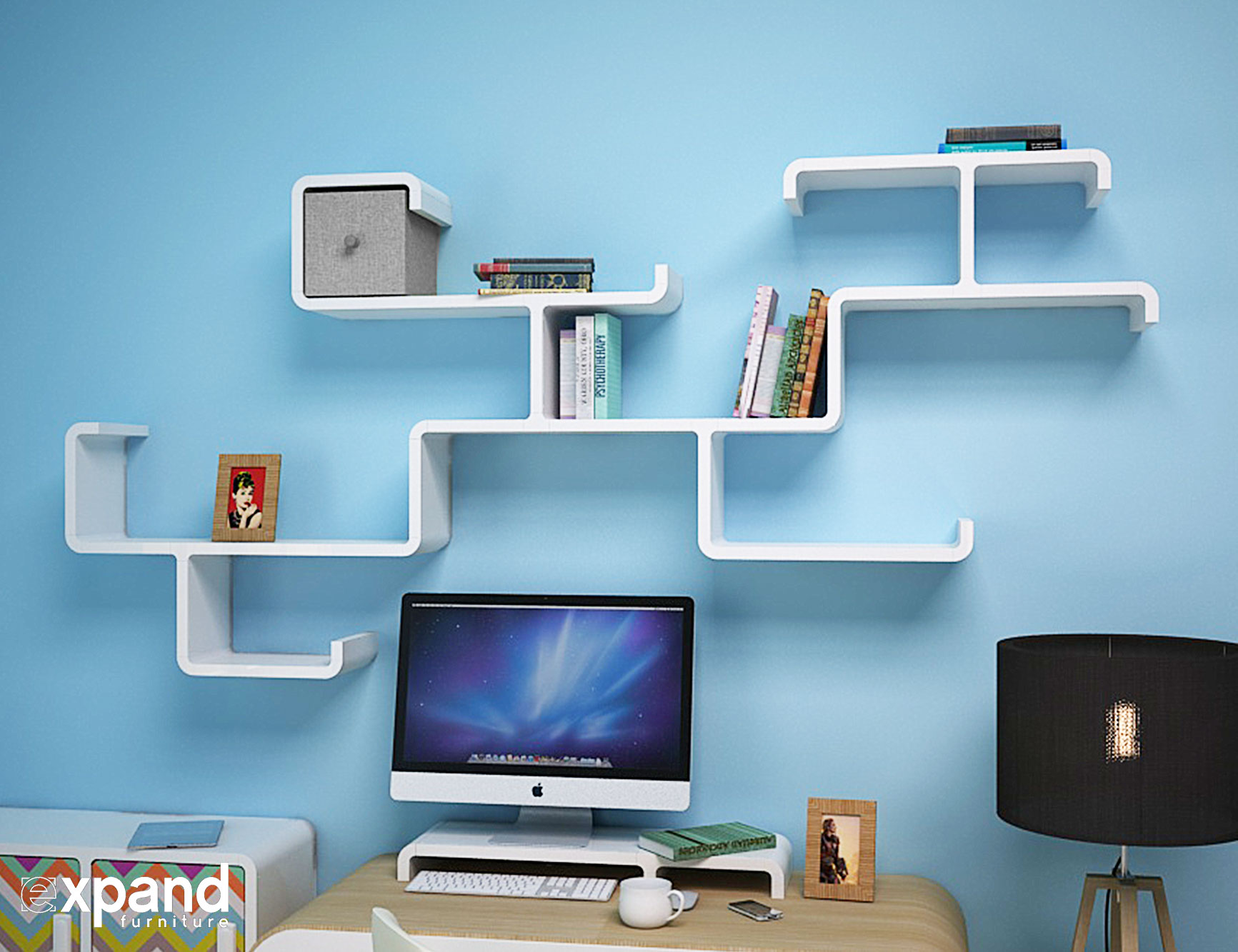 Modular Branch Decorative Wall Shelving