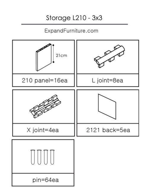 X-210-3x3cb-parts